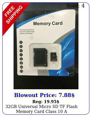gb universal micro sd tf flash memory card class a