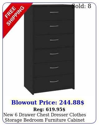 drawer chest dresser clothes storage bedroom furniture cabinet blac