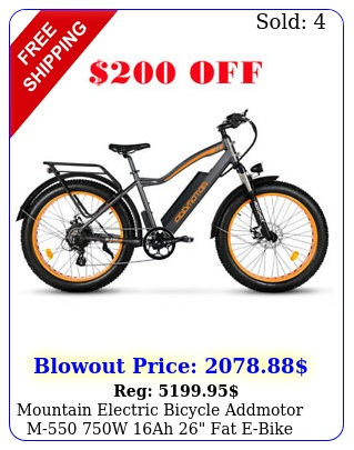 mountain electric bicycle addmotor m w ah fat ebike moped bike lc