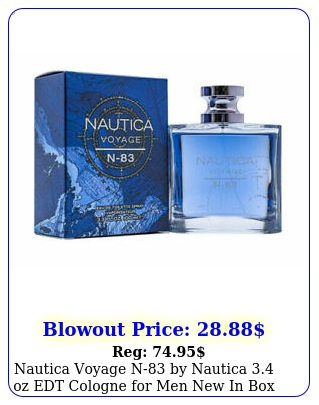 nautica voyage n by nautica oz edt cologne men in bo