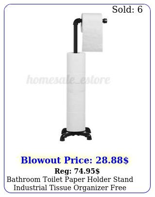bathroom toilet paper holder stand industrial tissue organizer free standin