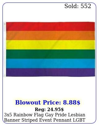 x rainbow flag gay pride lesbian banner striped event pennant lgbt sig