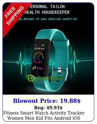 fitness smart watch activity tracker women men kid fits android ios heart rat