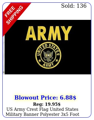 us army crest flag united states military banner polyester x foot flag