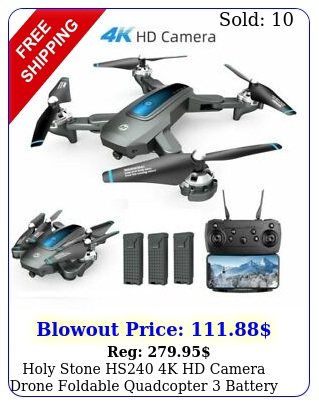 holy stone hs k hd camera drone foldable quadcopter battery selfie tapfl
