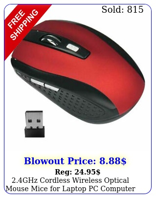 ghz cordless wireless optical mouse mice laptop pc computer dpi ho