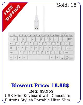 usb mini keyboard with chocolate buttons stylish portable ultra slim mac p