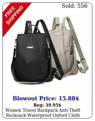women travel backpack antitheft rucksack waterproof oxford cloth school bag u
