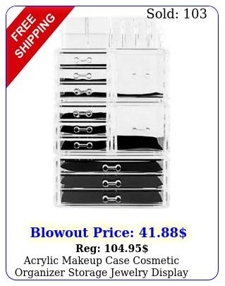 acrylic makeup case cosmetic organizer storage jewelry display drawer holde