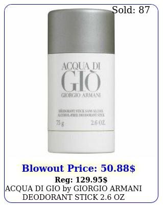 acqua di gio by giorgio armani deodorant stick oz alcohol free seale