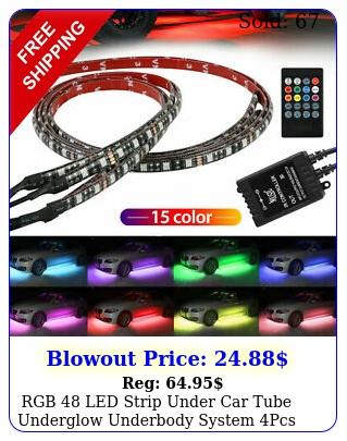 rgb led strip under car tube underglow underbody system pcs neon lights ki