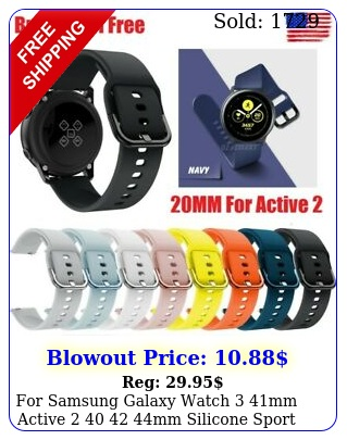 samsung galaxy watch mm active  mm silicone sport band stra