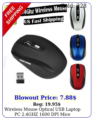 wireless mouse optical usb laptop pc ghz dpi mice  rechargeable batter
