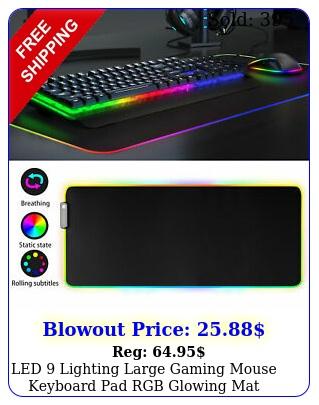 led lighting large gaming mouse keyboard pad rgb glowing mat x p