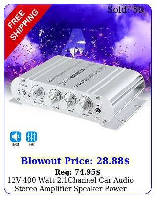 v watt channel car audio stereo amplifier speaker power class a b am