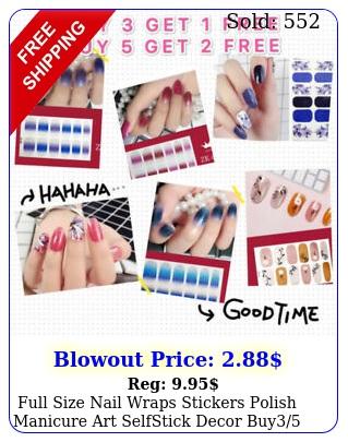 full size nail wraps stickers polish manicure art selfstick decor buy fre