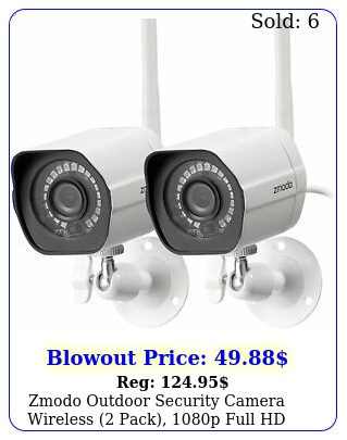 zmodo outdoor security camera wireless pack p full hd home security ca
