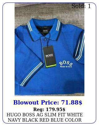 hugo boss ag slim fit white navy black red blue color polo shirt size sxx