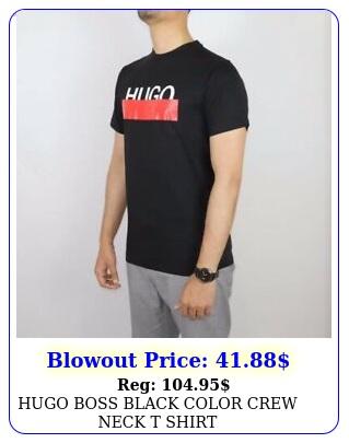 hugo boss black color crew neck t shir
