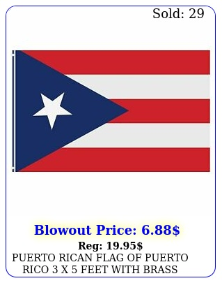 puerto rican flag of puerto rico x feet with brass grommets indoor outdoo