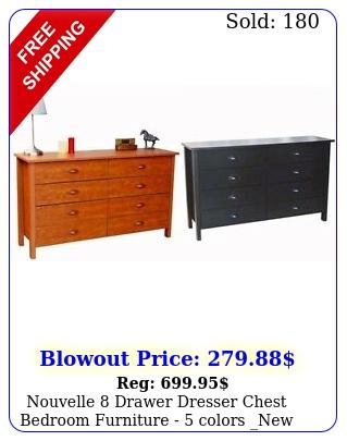 nouvelle drawer dresser chest bedroom furniture  colors ne