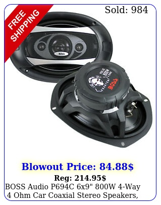 boss audio pc x w way ohm car coaxial stereo speakers pai