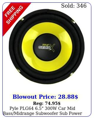 pyle plg w car mid bassmidrange subwoofer sub power speaker yello