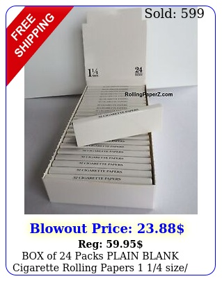 of packs plain blank cigarette rolling papers  size leaves eac
