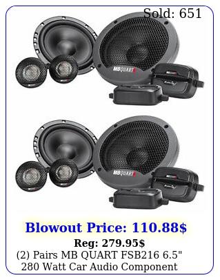 pairs mb quart fsb  watt car audio component speaker