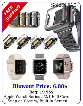 apple watch series full cover snapon case w builtin screen protecto