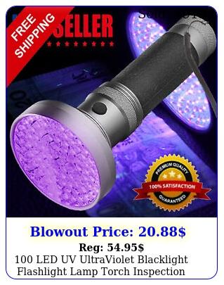 led uv ultraviolet blacklight flashlight lamp torch inspection light outdoo