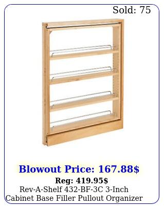 revashelf bfc inch cabinet base filler pullout organizer rack mapl