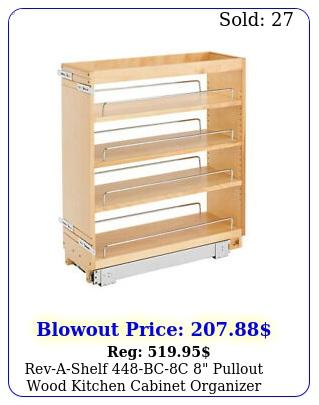 revashelf bcc pullout wood kitchen cabinet organizer rack mapl