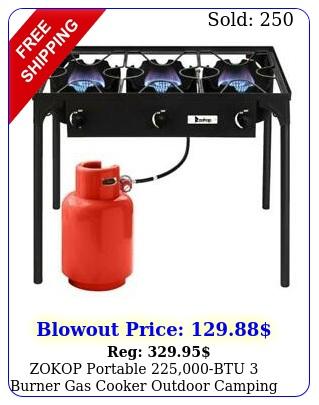 zokop portable btu burner gas cooker outdoor camping picnic stove bb