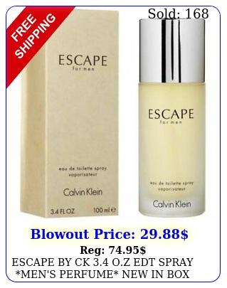 escape by ck oz edt spray men's perfume in calvin klei