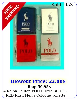 ralph lauren polo ultra blue red rush men's cologne toilette sample spray