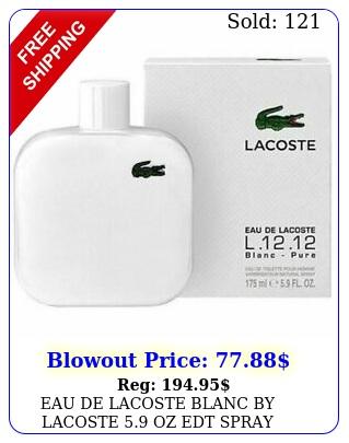 eau de lacoste blanc by lacoste oz edt spray men's perfume seale