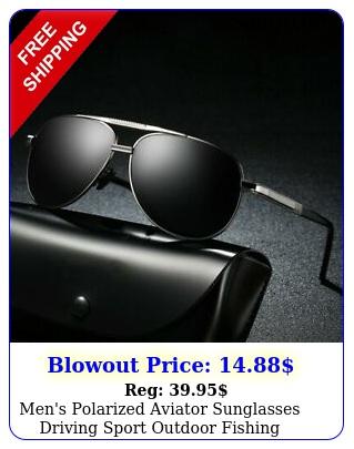 men's polarized aviator sunglasses driving sport outdoor fishing eyewea