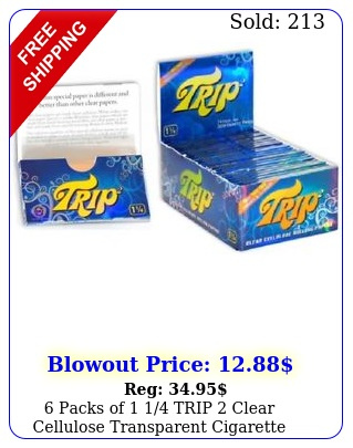 packs of  trip clear cellulose transparent cigarette rolling paper