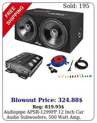 audiopipe apsbpp inch car audio subwoofers watt amp wire ki