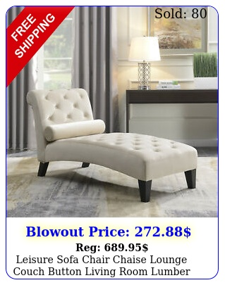 leisure sofa chair chaise lounge couch button living room lumber tufted beig