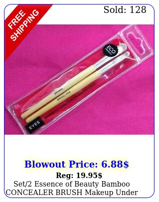 set essence of beauty bamboo concealer brush makeup under eye blemishes ne
