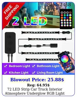 led strip car truck interior atmosphere underglow rgb light music app contro