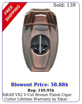 xikar vx vcut bronze finish cigar cutter lifetime warranty by xika