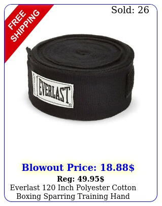 everlast inch polyester cotton boxing sparring training hand wraps blac