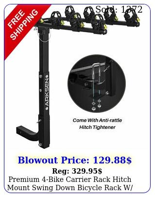 premium bike carrier rack hitch mount swing down bicycle rack w receive