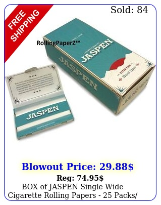 of jaspen single wide cigarette rolling papers  packs leaves eac