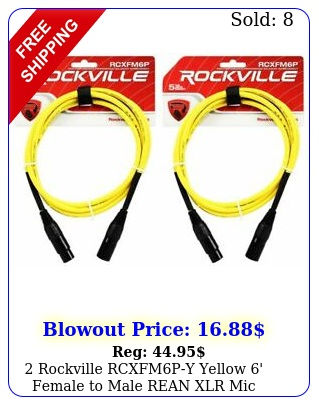 rockville rcxfmpy yellow ' female to male rean xlr mic cables coppe