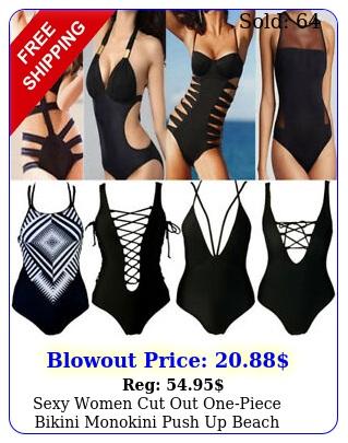 sexy women cut out onepiece bikini monokini push up beach swimsuit swimwear u