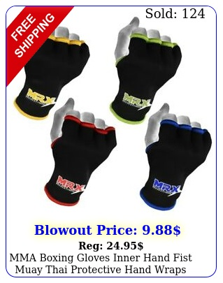 mma boxing gloves inner hand fist muay thai protective hand wraps pair unise